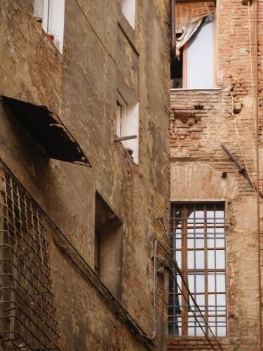 toscane, mur, siena, profilade, façade